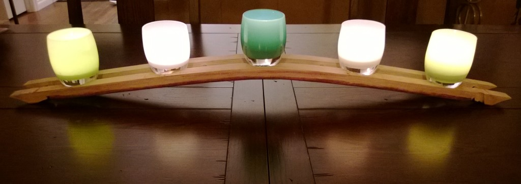 Glassybaby holder with steel pins