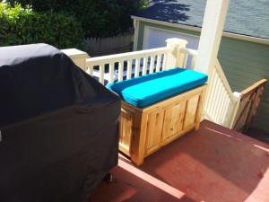 Cedar storage bench