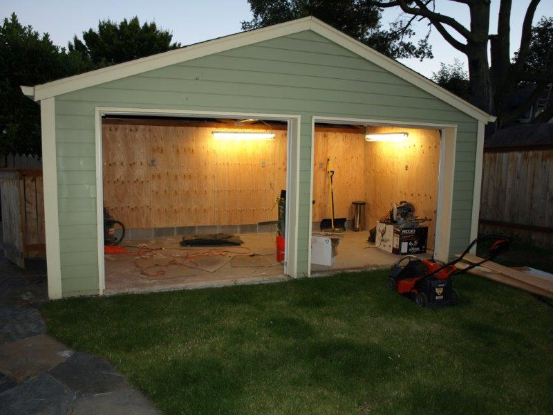 Finished Garage Workshop