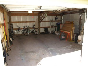 garage workshop from east door