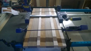 Edge grain glue up