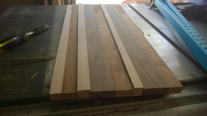 dried edge grain glue up