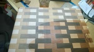 wipe on varnish, midway through...