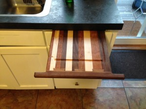 drew cabinet cutting board