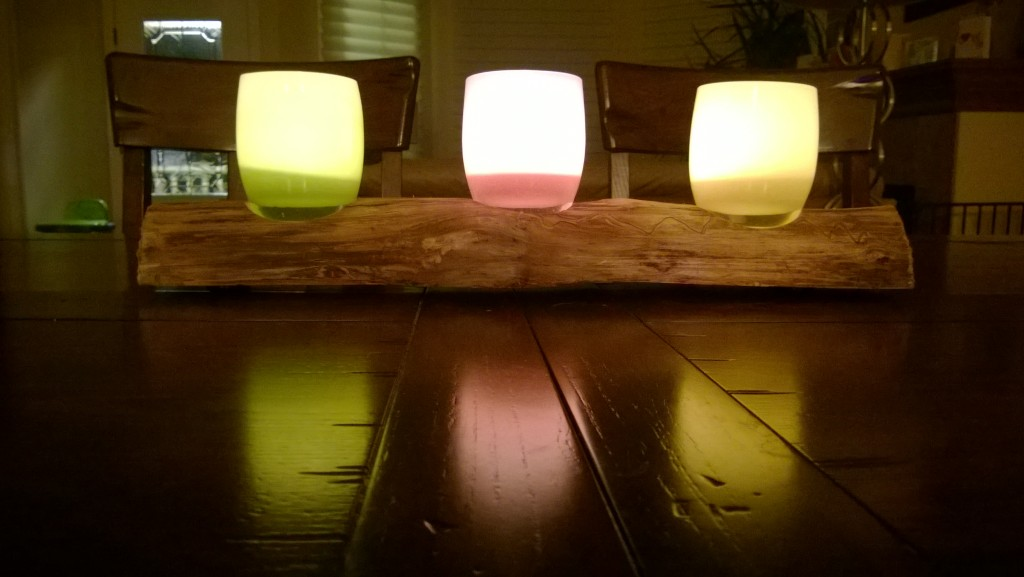 aspen log glassybaby holder