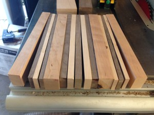 End grain chopping board - maple, walnut, cherry