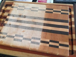End grain chopping board - walnut, maple, cherry