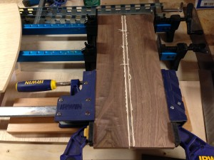 pizza peel glue up right side