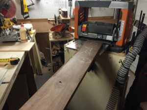 walnut in the planer